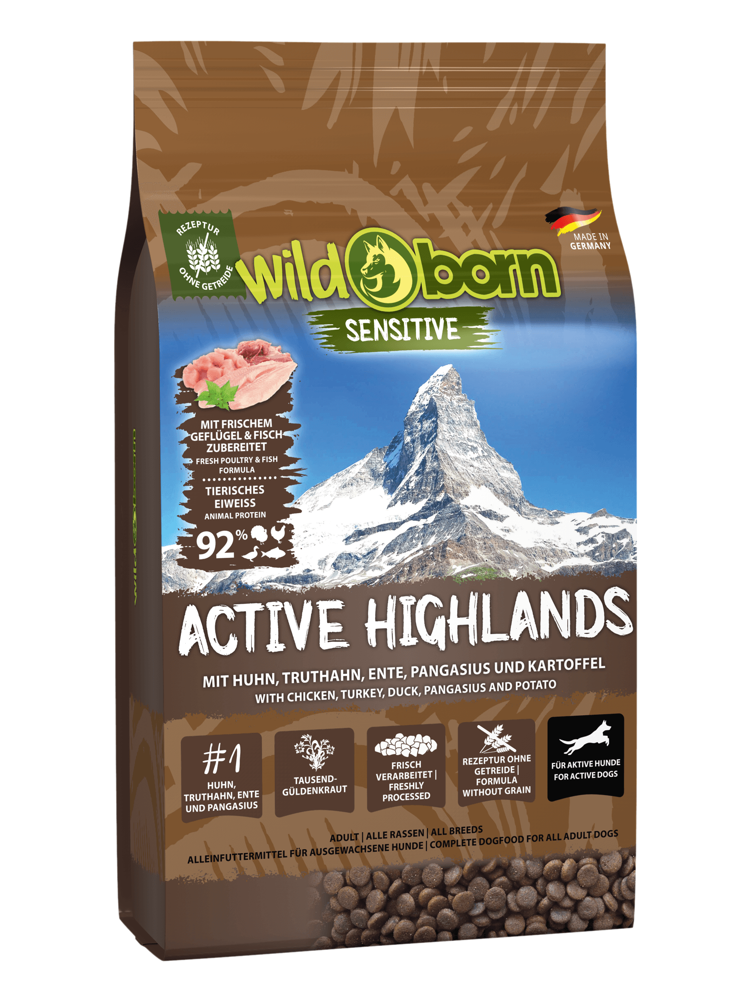 WILDBORN Active Highlands - für aktive Hunde