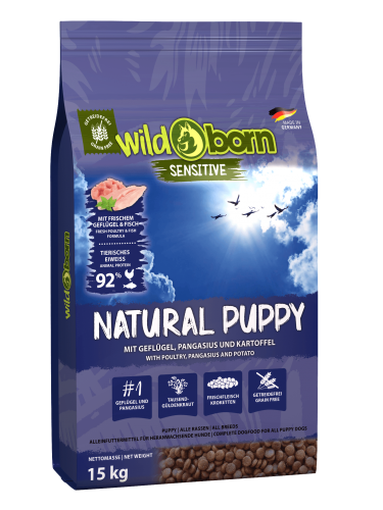Wildborn Natural Puppy mit Geflügel & Pangasius 15kg