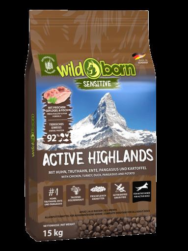 Wildborn Active Highlands 15kg für aktive Hunde
