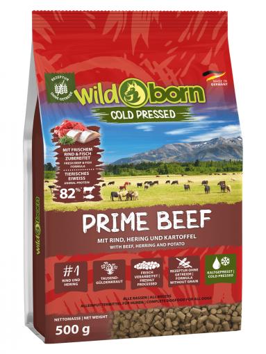 Wildborn PRIME Beef 500g kaltgepresst mit Rindfleisch