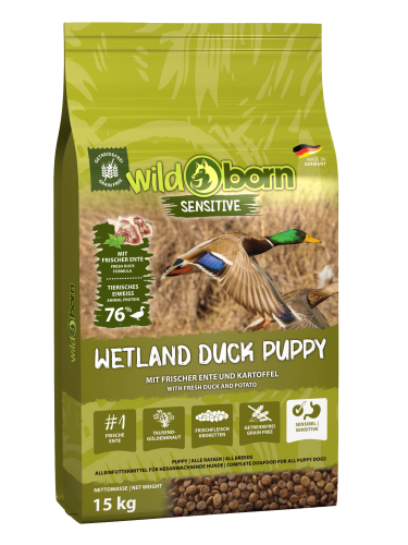 Wildborn Wetland Duck Puppy Sensitive mit viel frischer Ente 15kg