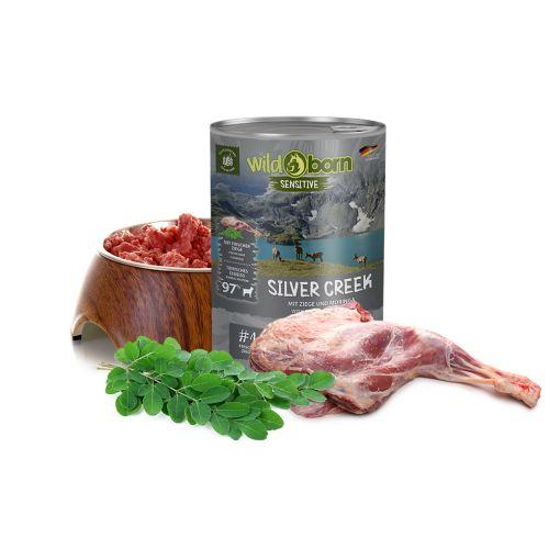 Wildborn Silver Creek Nassfutter mit Ziegefleisch 6x400g