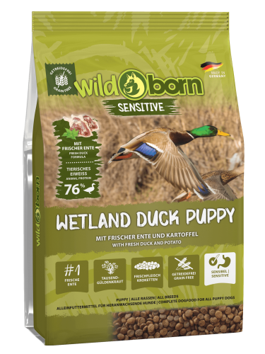 Wildborn Wetland Duck Puppy Sensitive mit viel frischer Ente 8kg