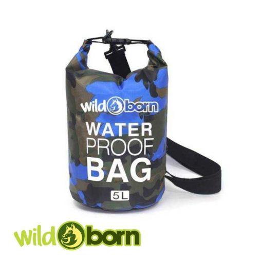 Wildborn wasserfester Rollbeutel 5 Liter Waterproof bag / Seesack aus PVC
