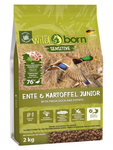 Wildborn Ente & Kartoffel JUNIOR 2kg - für Welpen & Junghunde