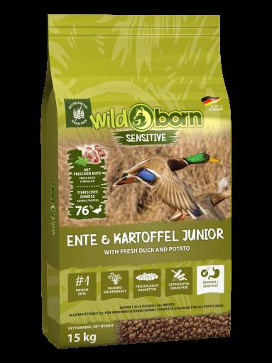 Wildborn Ente & Kartoffel JUNIOR 15kg - für Welpen & Junghunde