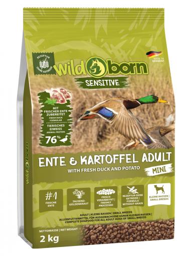 Wildborn Ente & Kartoffel MINI 2kg - für kleine Hunde