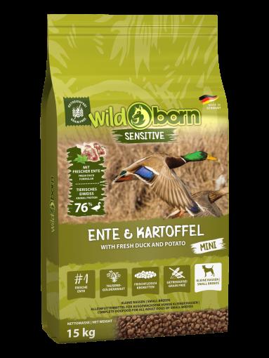 Wildborn Ente & Kartoffel MINI 15kg - für kleine Hunde
