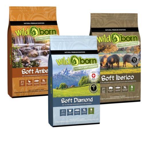 WILDBORN getreidefreies Hundefutter SOFT Probierpaket 2 x 1kg und 1 x 1,5kg
