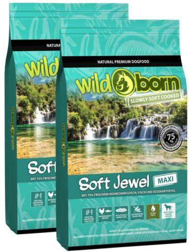 Wildborn SOFT JEWEL MAXI mit frischem Hühnchen & Fisch Doppelpack 2 x12kg