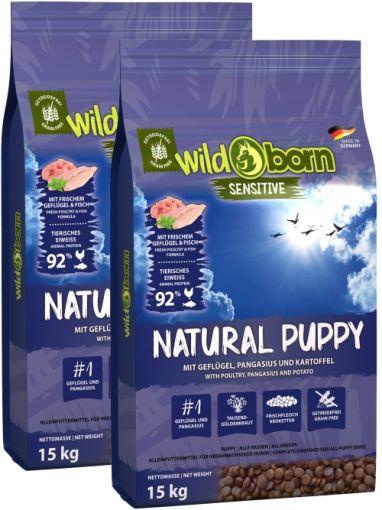 Wildborn Natural Puppy mit Geflügel & Pangasius Doppelpack 2 x 15kg