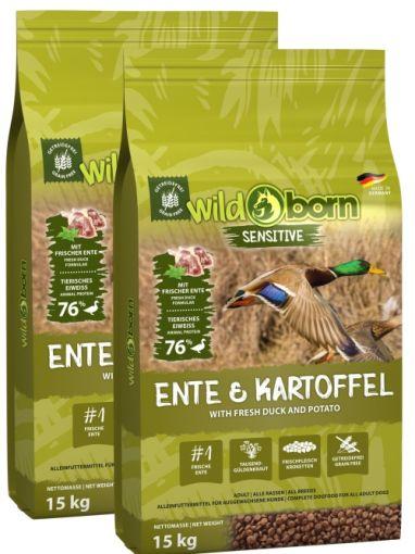 Wildborn Ente & Kartoffel Doppelpack 2 x 15kg