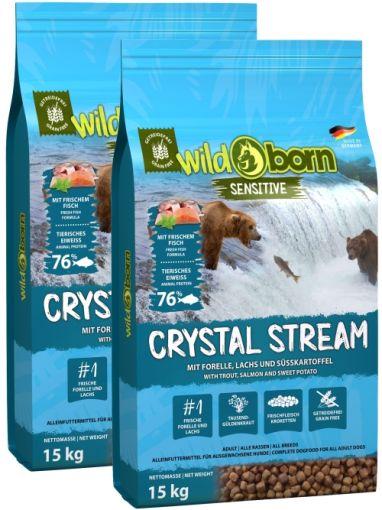 Wildborn Crystal Stream mit Forelle & Lachs Doppelpack 2 x 15kg