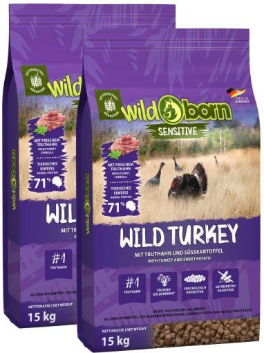 Wildborn Wild Turkey mit Truthahn Doppelpack 2 x 15kg