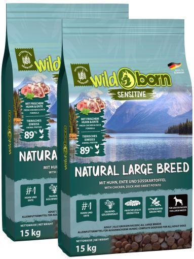 Wildborn Natural Large Breed Doppepack 2 x 15kg für große Hunderassen