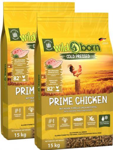Wildborn PRIME Chicken Doppelpack 2 x  15kg kaltgepresst mit Hühnchenfleisch