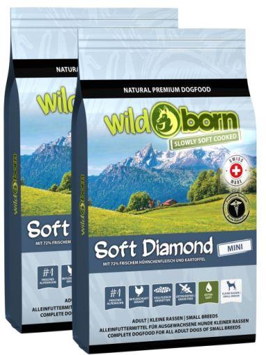 Wildborn SOFT DIAMOND MINI mit frischem Alpenhühnchen Doppelpack 2 x 12 kg