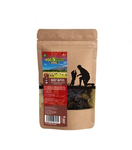 Wildborn Natural Beef Bites Hundesnack 200g