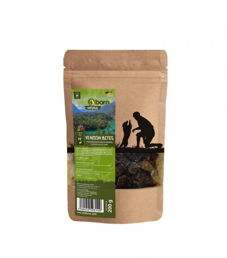 Wildborn Natural Venison Bites Hundesnack 200g