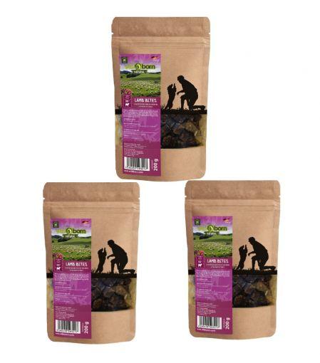Wildborn Natural Lamb Bites Hundesnack 3 x 200g