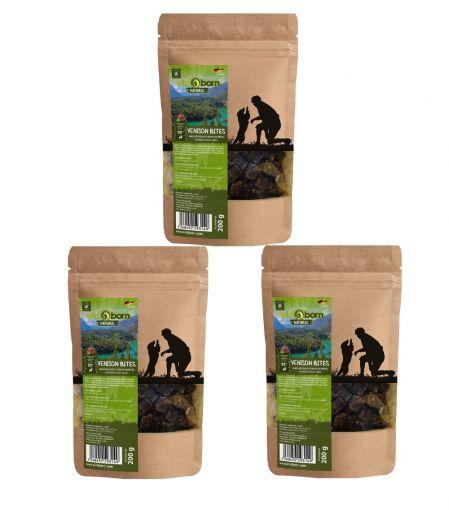 Wildborn Natural Venison Bites Hundesnack 3 x 200g