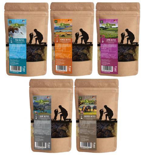 Wildborn Natural Snack Bites Hundesnack Multipack 2