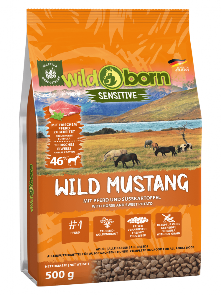 Wildborn Wild Mustang mit Pferdefleisch 500g