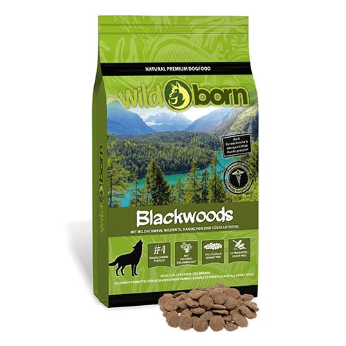 Hundefutter getreidefrei mit Wildschwein 12,5kg Trockenfutter WILDBORN Blackwoods