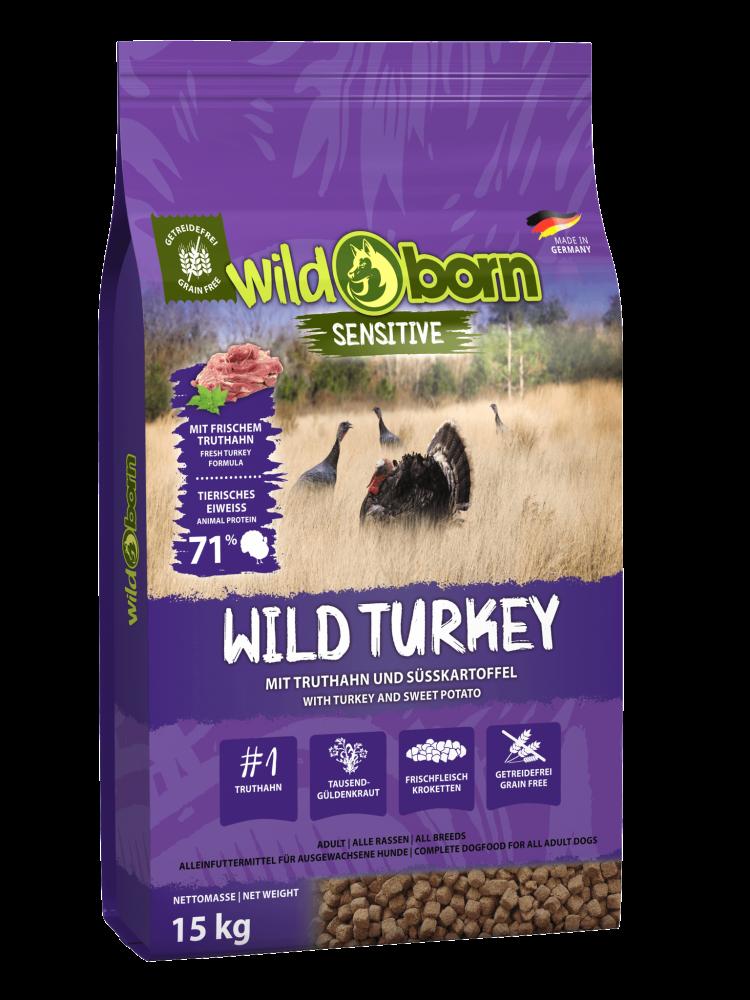 Hundefutter getreidefrei Truthahn 15kg Trockenfutter WILDBORN Wild Turkey