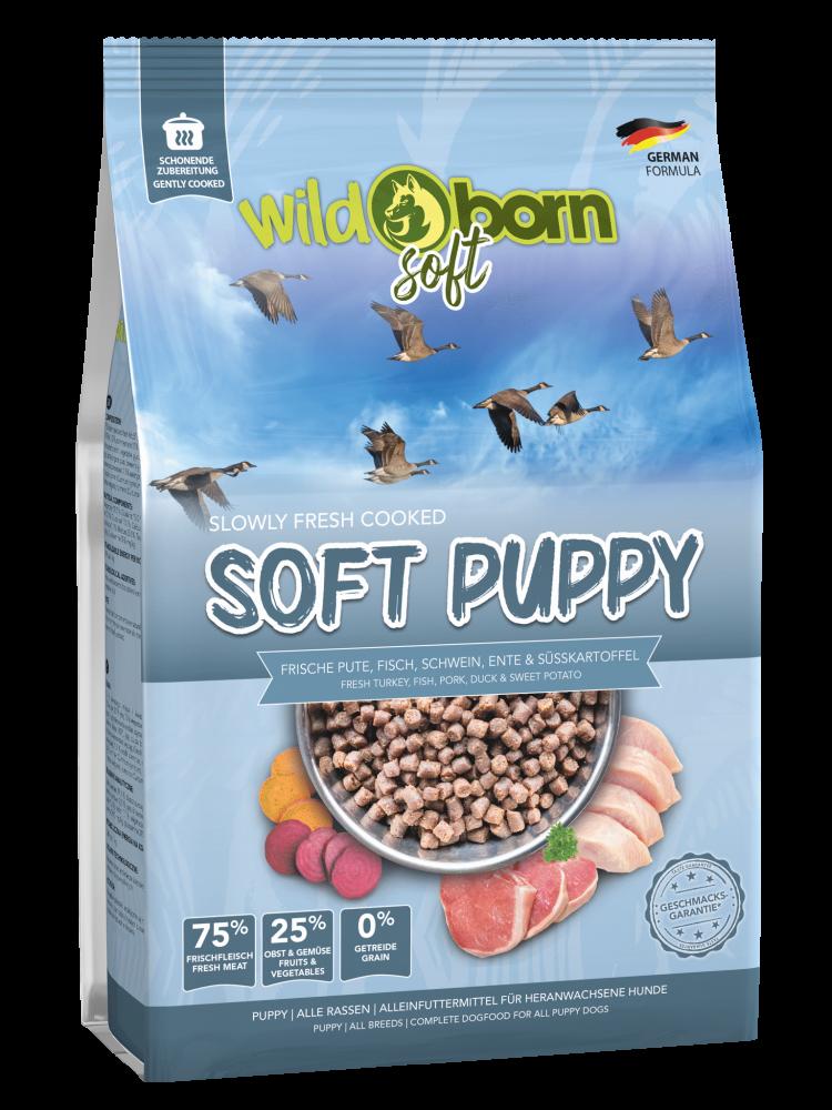 Welpenfutter getreidefrei WILDBORN Soft Puppy 1,5 kg Soft Hundefutter
