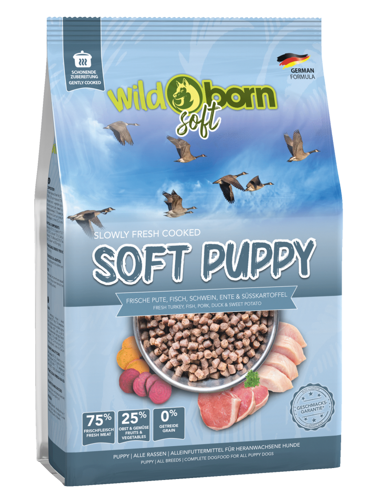 Welpenfutter getreidefrei WILDBORN Soft Puppy 50 g Soft Hundefutter