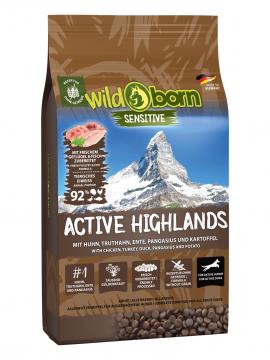 Wildborn Active Highlands 8kg für aktive Hunde