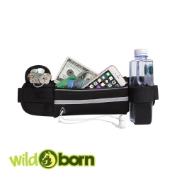 Wildborn Bauchtasche / Handytasche Handy-Lauftasche mit verstellbarem Gürtel